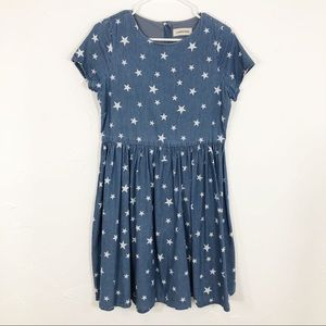 Lands' End chambray star fit and flair dress S/M